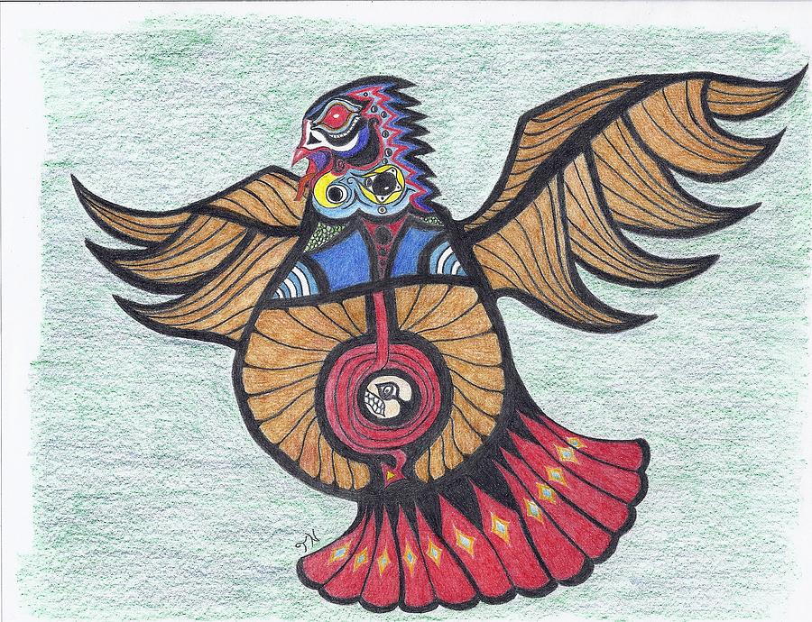 Thunderbird Totem Drawing