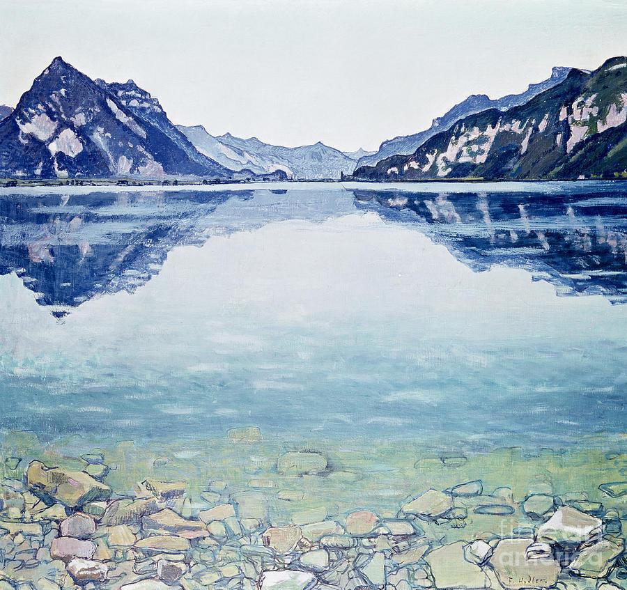 Lake Painting - Thunersee Von Leissigen by Ferdinand Hodler