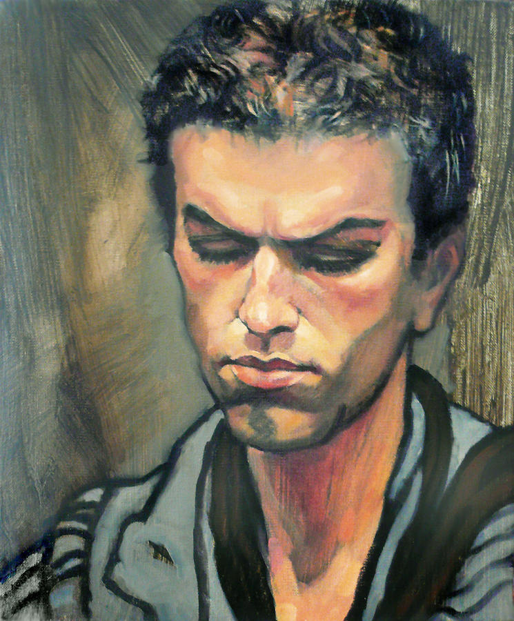 Oil Paintings Painting - Tiago by Roz McQuillan
