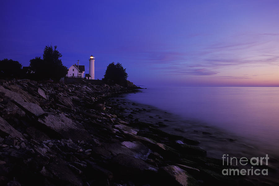 Tibbetts Point Lighthouse Sunset - Fm000014 Photograph  - Tibbetts Point Lighthouse Sunset - Fm000014 Fine Art Print