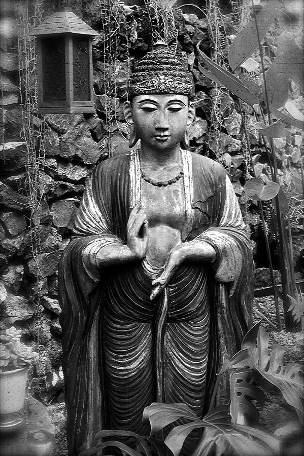 Tibetan Photograph - Tibetan Buddha by Karon Melillo DeVega