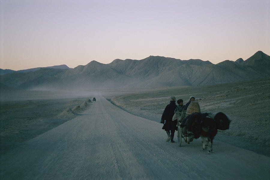 Tibetan Travelers On Their Way Photograph  - Tibetan Travelers On Their Way Fine Art Print