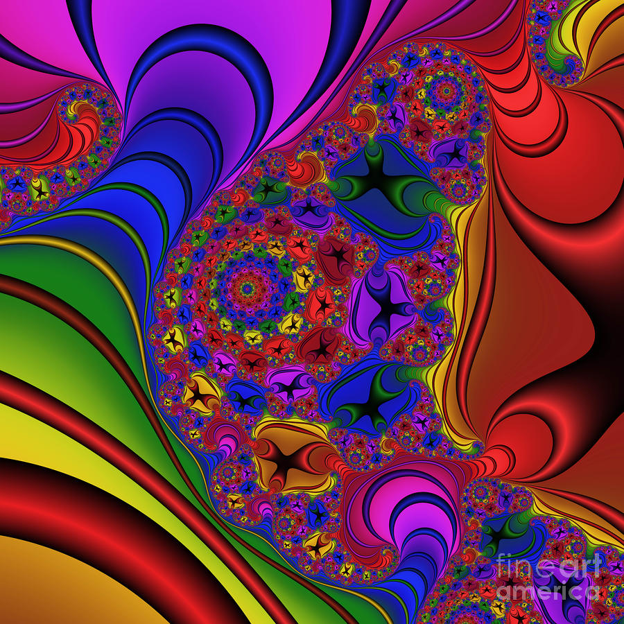 Tidal Wave 194 Digital Art  - Tidal Wave 194 Fine Art Print