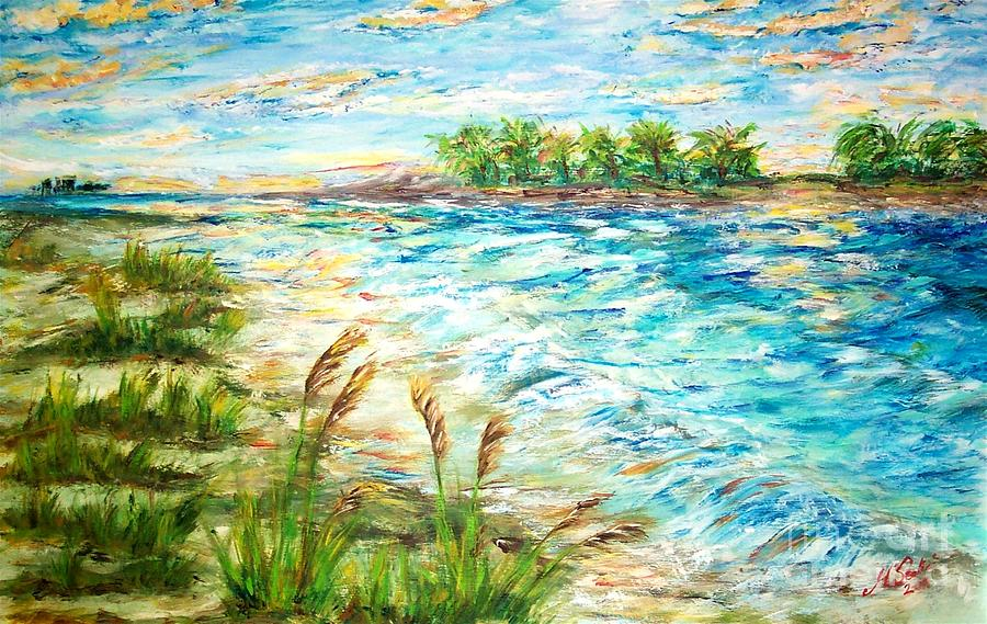 Tides At Sunset Painting by Mary Sedici