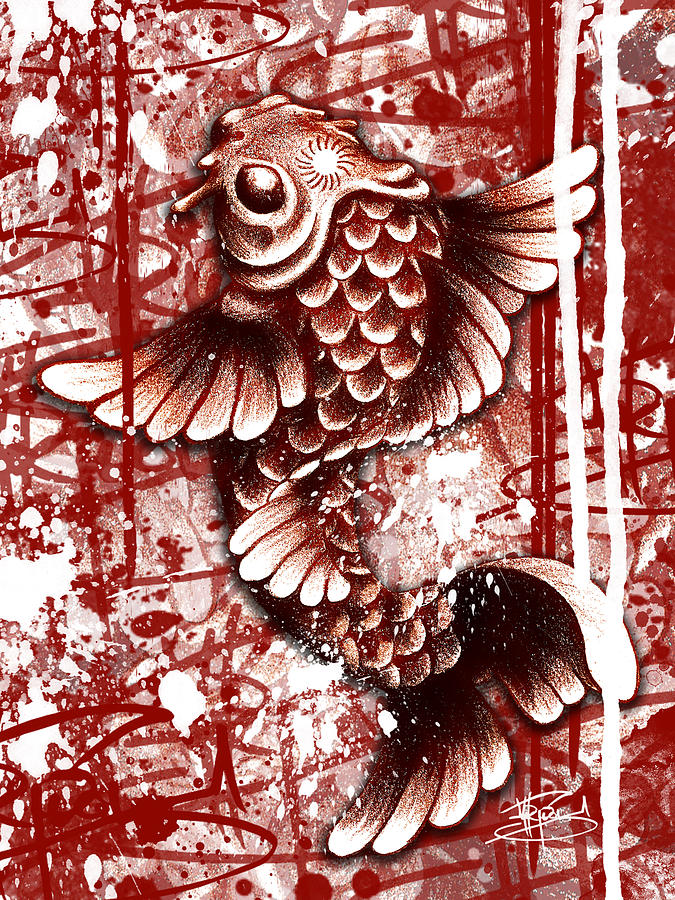 Tiffy Koi Mixed Media  - Tiffy Koi Fine Art Print