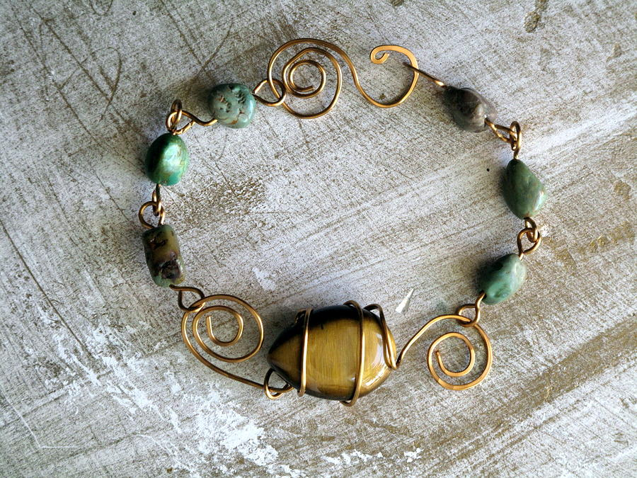 Tiger Eye Swirl Bracelet Jewelry