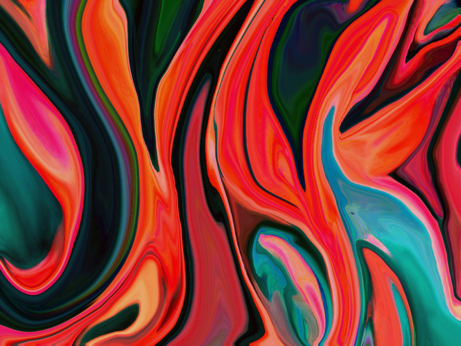 Tiger Lily Abstract Photograph