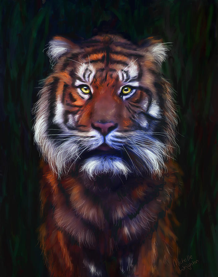 Tigers Painting - Tiger Tiger by Michelle Wrighton
