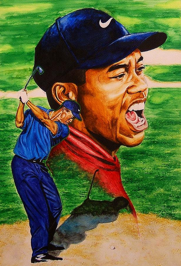 Tiger Woods. Painting