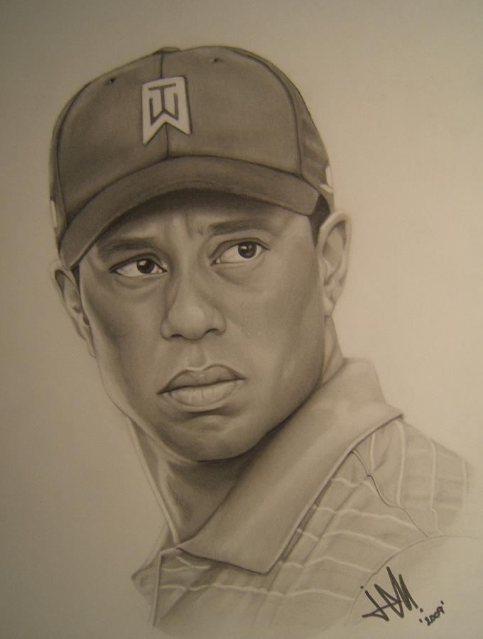 Tiger Woods By Jenny Oz