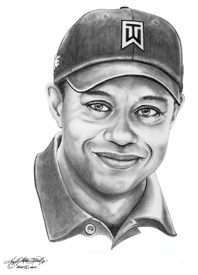 Tiger Woods-tiger Grin-murphy Elliott By Murphy Elliott