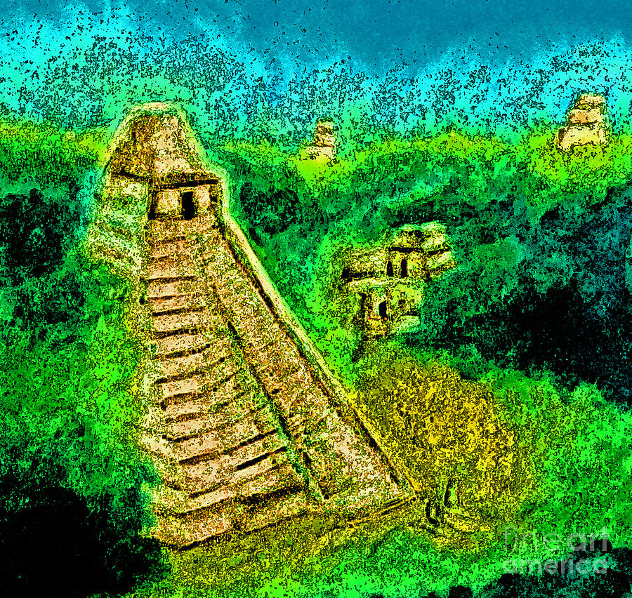 Tikal By Jrr Drawing