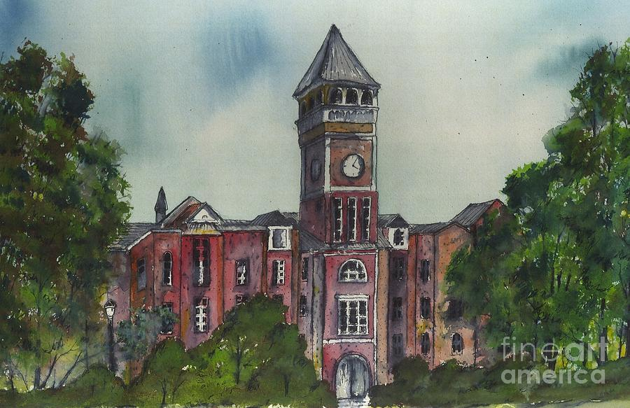 Tillman Hall One Clemson Painting  - Tillman Hall One Clemson Fine Art Print