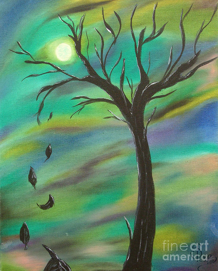 Tim Burton Tree Painting