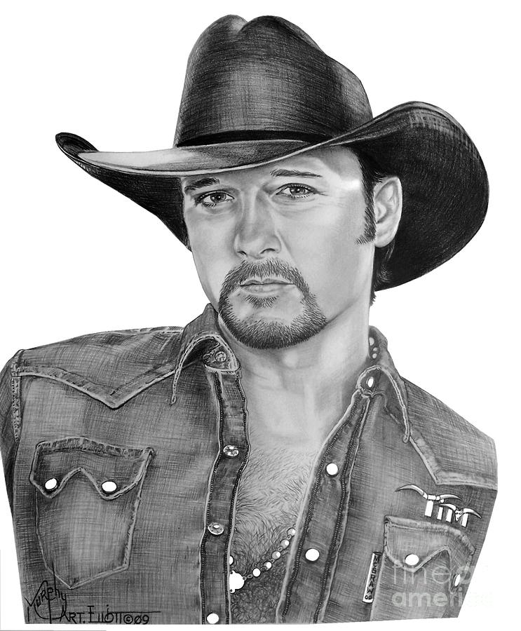 Tim Mcgraw Drawing  - Tim Mcgraw Fine Art Print