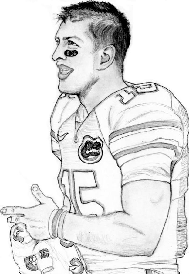Tim Tebow Drawing