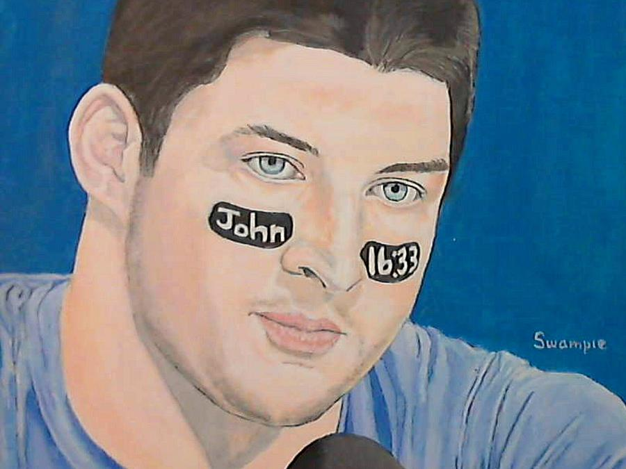 Tim Tebow Painting  - Tim Tebow Fine Art Print