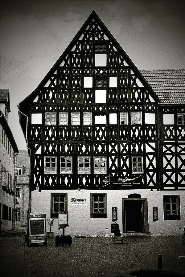Timber-frame House Weimar Photograph  - Timber-frame House Weimar Fine Art Print