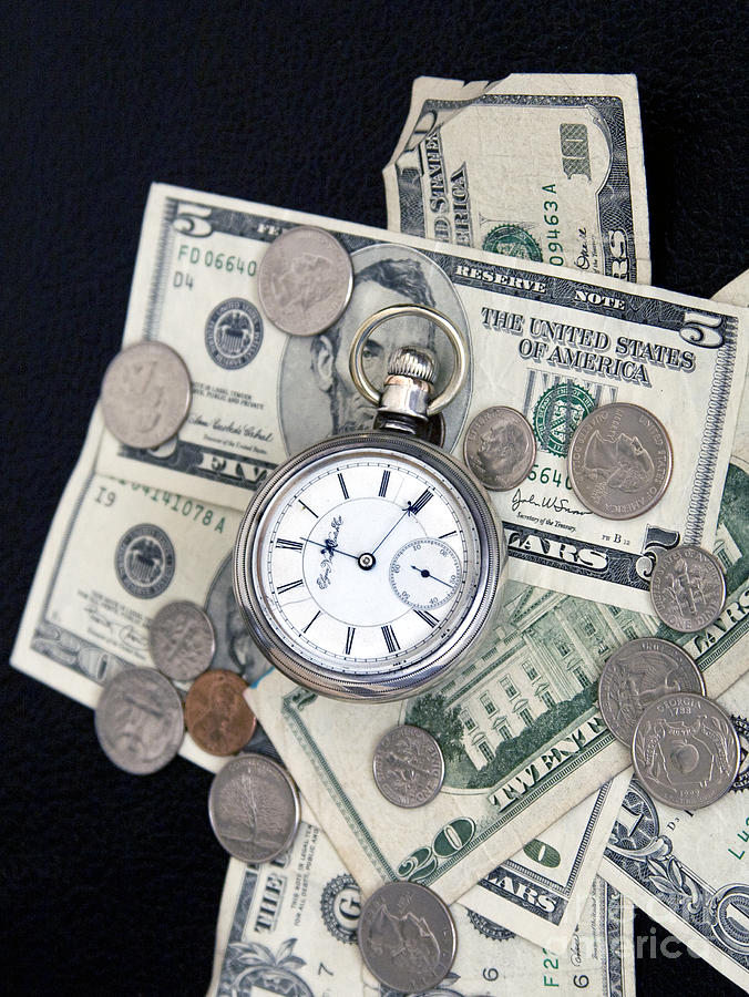 Time And Money Photograph  - Time And Money Fine Art Print