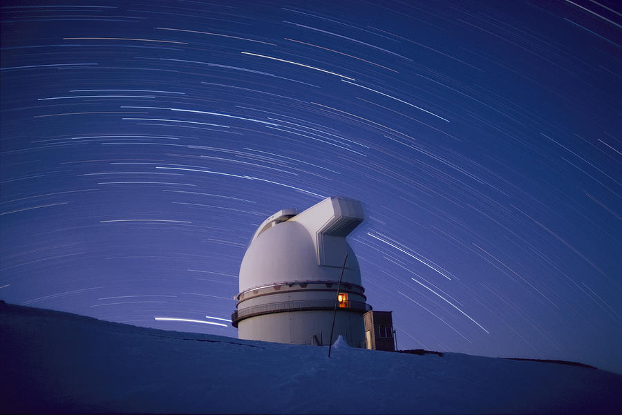Time-exposure Of The Mauna Kea Photograph  - Time-exposure Of The Mauna Kea Fine Art Print