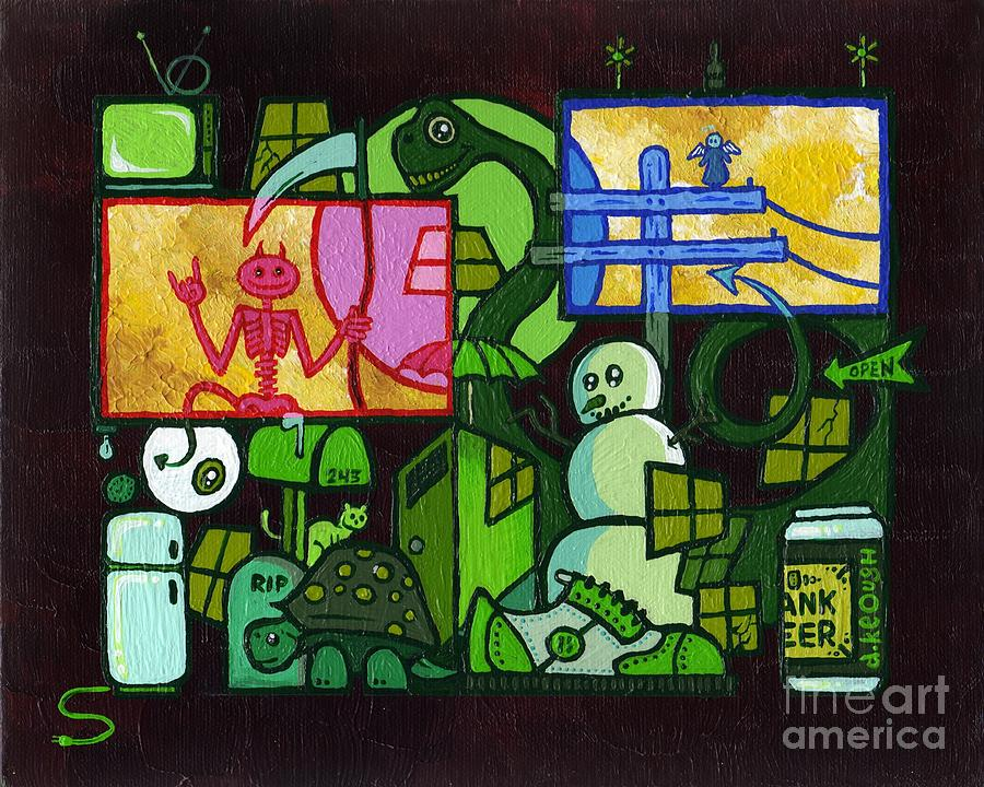 Time Killer Painting  - Time Killer Fine Art Print