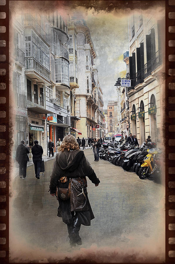 Time Photograph - Time Warp In Malaga by Mary Machare