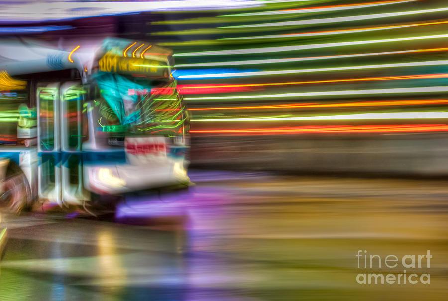 Times Square Bus Photograph