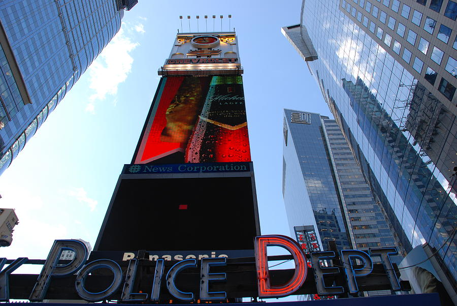 Times Square Cops Photograph  - Times Square Cops Fine Art Print