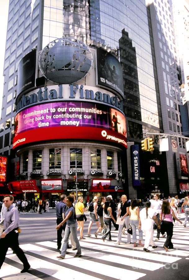 Times Square Corner Photograph