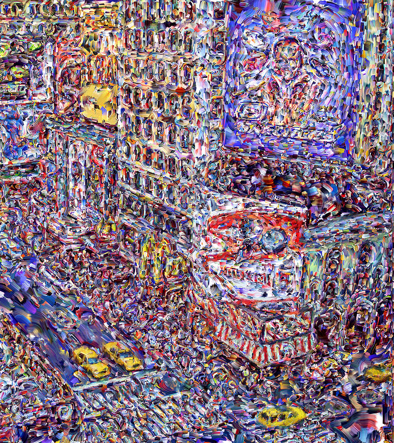Times Square Digital Art  - Times Square Fine Art Print