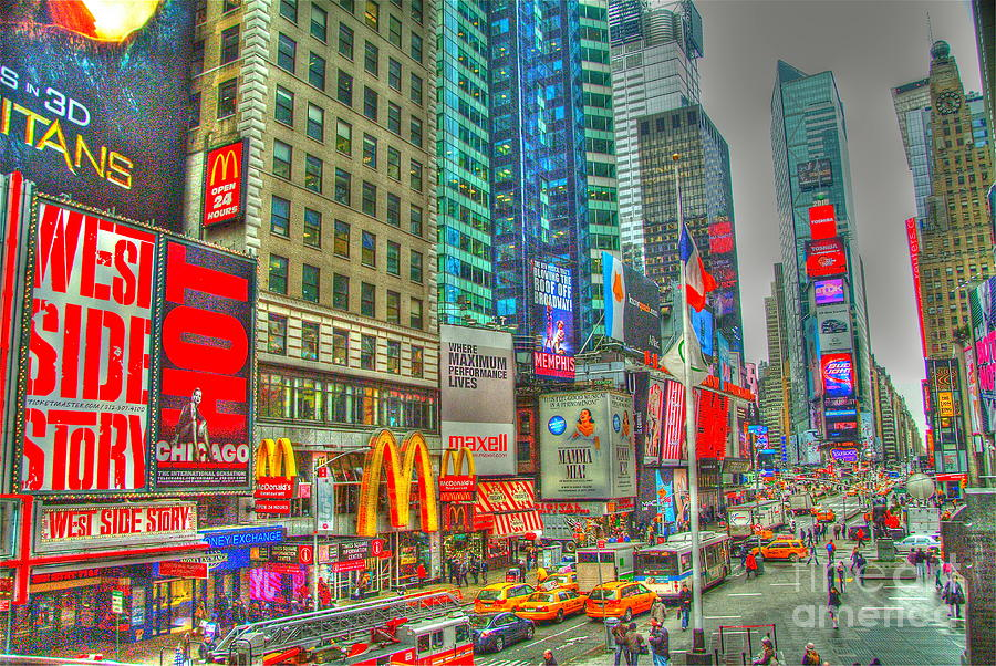Times Square One Digital Art