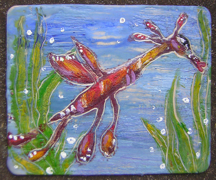 Tiny Anthropomorphic Sea Dragon 2 Painting  - Tiny Anthropomorphic Sea Dragon 2 Fine Art Print