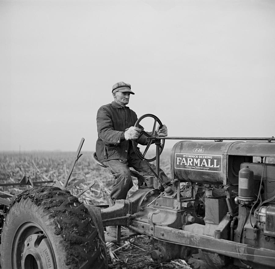 Tip Estes, A Hired Hand On An Indiana Photograph