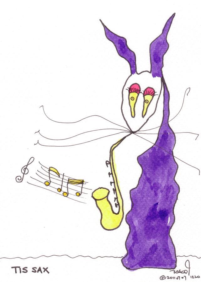 Tis Sax Lady Painting