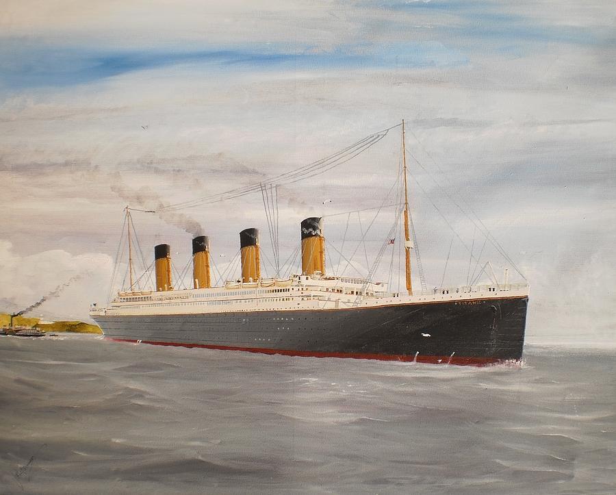 Titanic Departing Queenstown Painting
