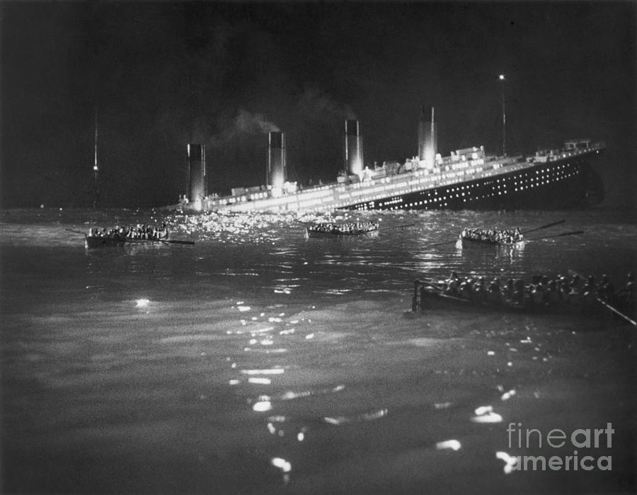 Titanic: Re-creation, 1912 Photograph  - Titanic: Re-creation, 1912 Fine Art Print