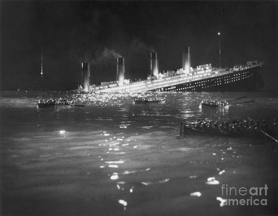 Titanic: Re-creation, 1912 Photograph