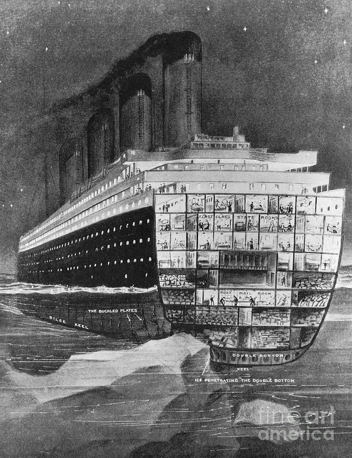 1912 Photograph - Titanic: Shipwreck, 1912 by Granger