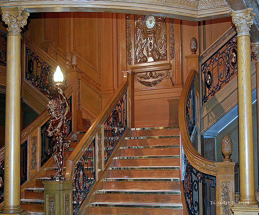 Titanics Grand Staircase Digiart Diaries By Vicky Browning