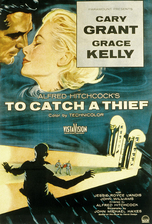 To Catch A Thief, Poster Art, Cary Photograph