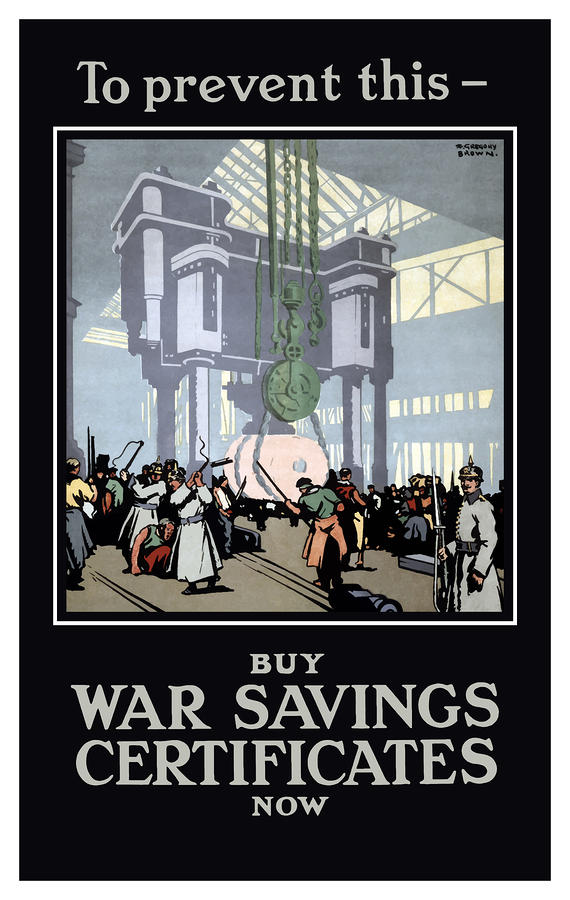 To Prevent This Buy War Savings Certificates Painting  - To Prevent This Buy War Savings Certificates Fine Art Print