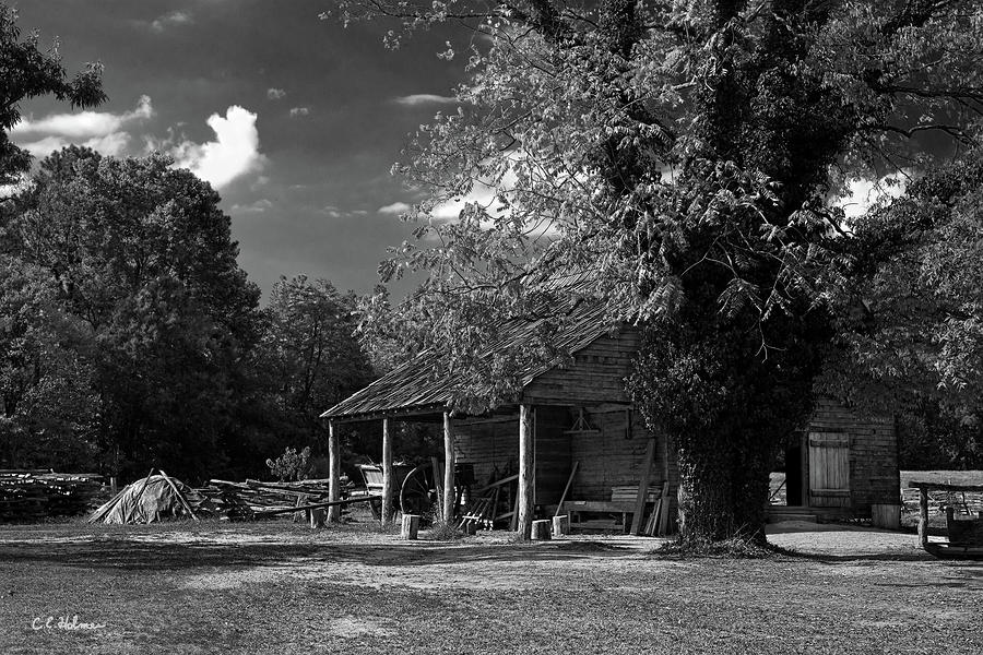 Tobacco Barn - B-w Photograph  - Tobacco Barn - B-w Fine Art Print