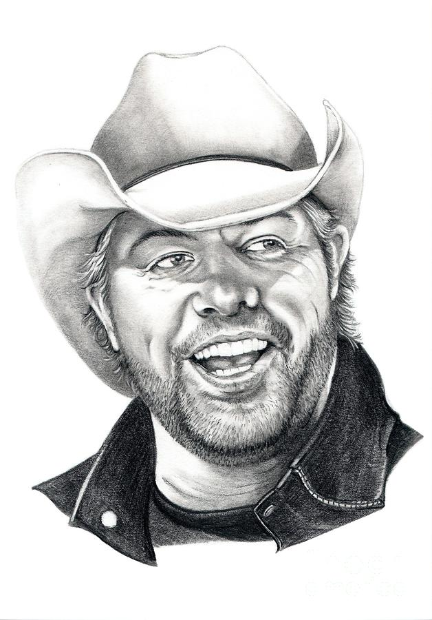 Toby Keith Drawing  - Toby Keith Fine Art Print