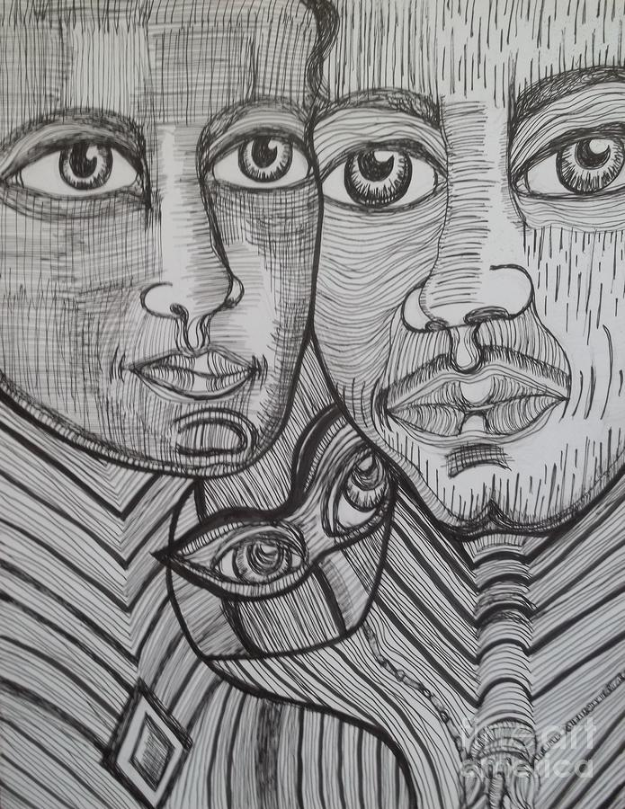 Together Again Drawing  - Together Again Fine Art Print