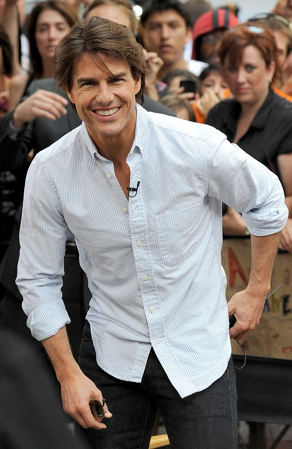 Tom Cruise At Talk Show Appearance Photograph  - Tom Cruise At Talk Show Appearance Fine Art Print