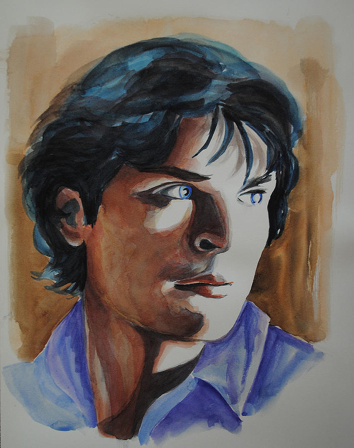 Portrait Painting - Tom Welling by Francoise Dugourd-Caput