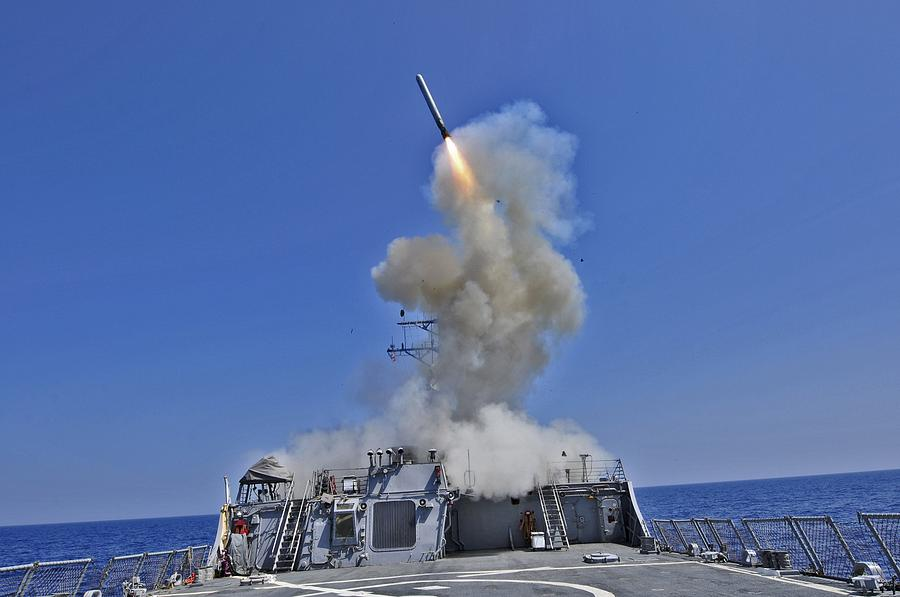 Tomahawk Cruise Missile Launched Photograph  - Tomahawk Cruise Missile Launched Fine Art Print