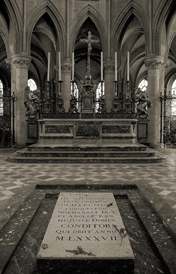 Tomb Of William The Conqueror Photograph  - Tomb Of William The Conqueror Fine Art Print