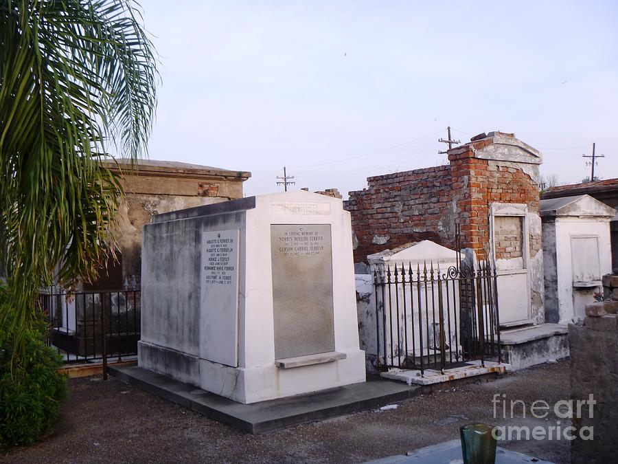 Tombs In St. Louis Cemetery Photograph  - Tombs In St. Louis Cemetery Fine Art Print