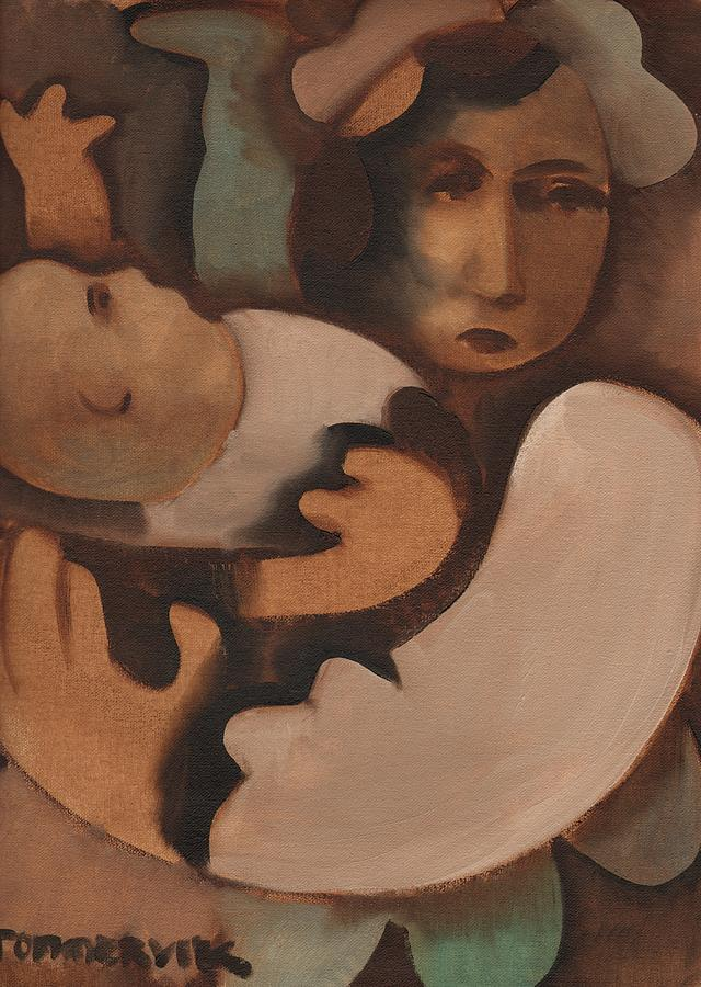 Tommervik Abstract Mother And Baby Painting